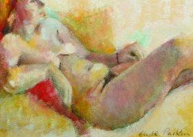 Elyse Parkin (20th Century) British. A Reclining Nude,
