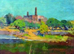 Cecil Lawrence Burns (c.1863-1929) British. A River