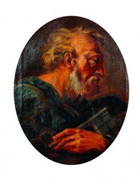 Manner Of Anthony Van Dyck (1599-1641) Belgian/british.