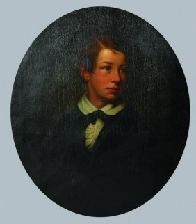Early 19th Century English School. Portrait Of A Boy,