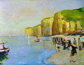 R… Briggs (20th Century) British. A Beach Scene With