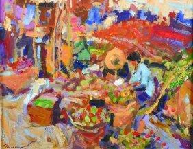 Ken Moroney (1949- ) British. 'the Vegetable Garden,