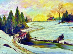 20th Century Canadian School. A Snow Covered Landscape,