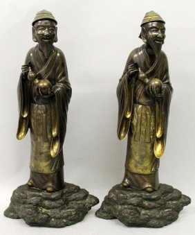 A Large Pair Of Good Quality 19th Century Oriental