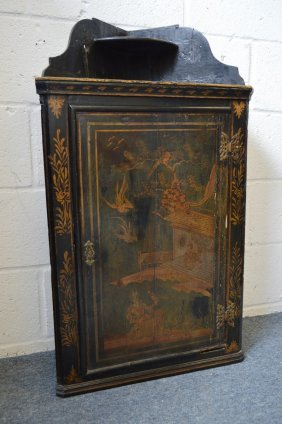 65. An 18th Century Black Lacquer And Chinoiserie