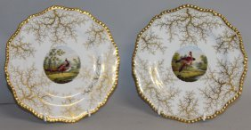 105. A Pair Of Flight Barr And Barr Gadroon Plates