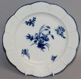 111. A Rare 18th Century Worcester Plate With