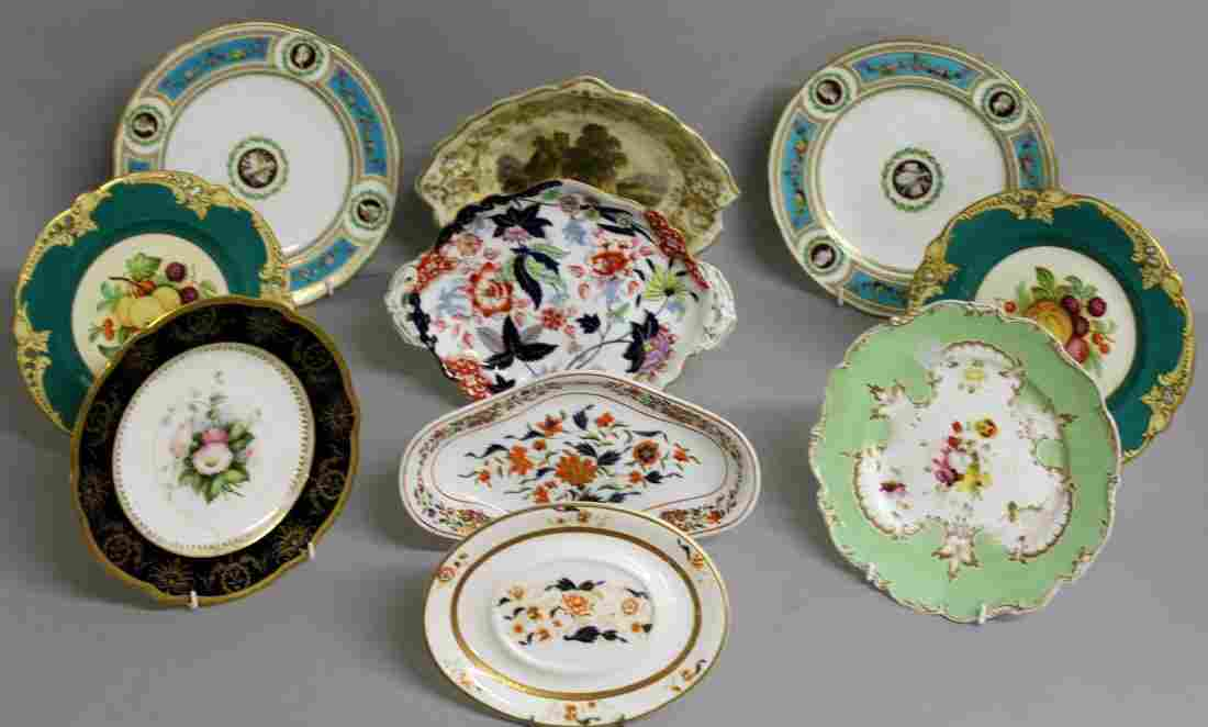 126.  TEN VARIOUS 19TH CENTURY PLATES OR DISHES