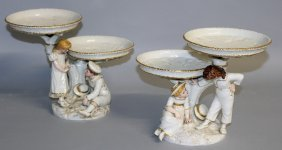 162. A Good Pair Of Hadleys Royal Worcester Comports,