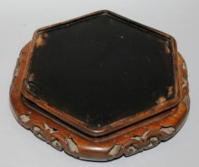 251. A Chinese Padouk Wood Octagonal Stand With