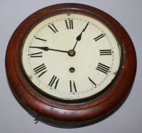 287. A Victorian 8-inch Dial Mahogany Cased Wall