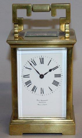293. A Good Brass Bracket Clock, Bell Brothers,