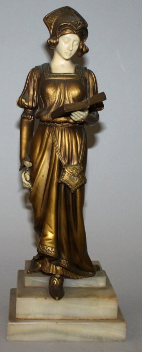 324. D. Alonzo (20th Century) French A Fine Gilt