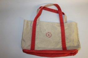 522. A Ralph Lauren Green Red Trimmed Bag.