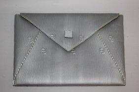 531. A Grey Fendi Clutch Bag.