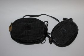 540. Two Fendi Black Purses.