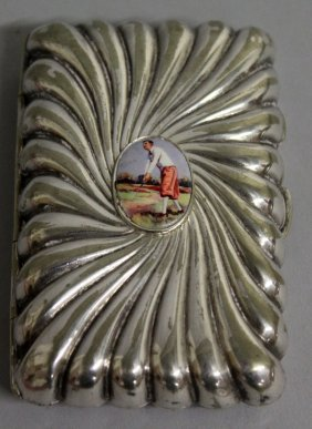 557. A Victorian Wrythen Fluted Cigarette Case, The