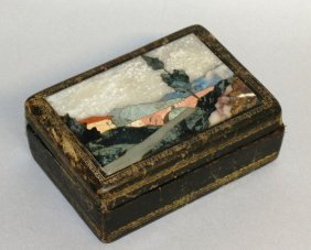584. A 19th Century Italian Leather Jewellery Box With