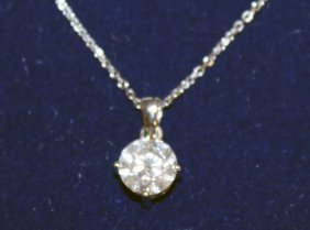 687. A Single Stone Diamond Pendant Of Approx. 1.6ct,