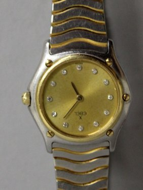 717. A Ladies Ebel Wristwatch With Diamonds For