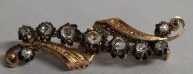 735. A Victorian Yellow Gold Diamond Set Brooch.