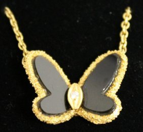 738. A Van Cleef And Arpels Butterfly Pendant And