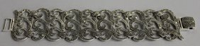 789. A Silver And Marcasite Wide Bracelet.