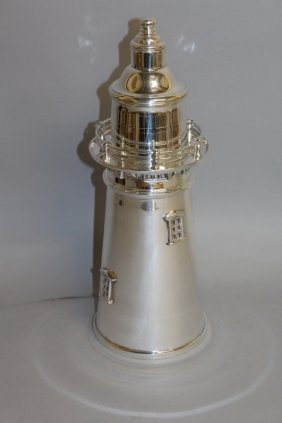 902. A Large Lighthouse Cocktail Shaker. 14ins High.
