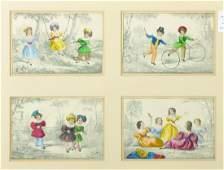 19th Century English School. Children by a Swing, Hand