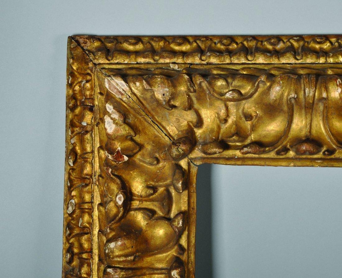 17th Century Italian School. A Carved Giltwood Frame, - 2