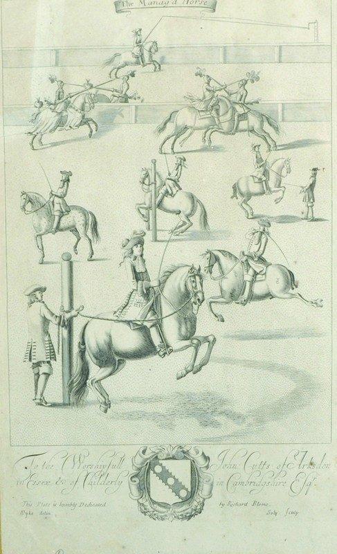 "After Jan Wyck (1644-1702) Dutch. ""The Manag'd Horses"","