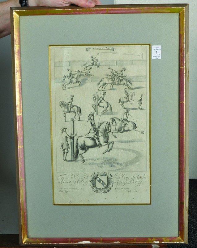 "After Jan Wyck (1644-1702) Dutch. ""The Manag'd Horses"", - 2"