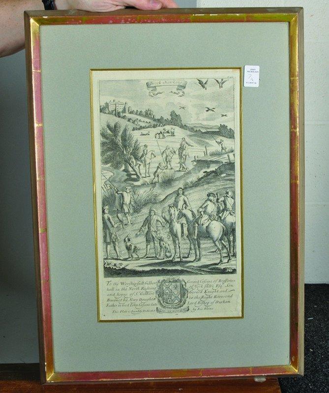 "After Jan Wyck (1644-1702) Dutch. ""The Manag'd Horses"", - 6"
