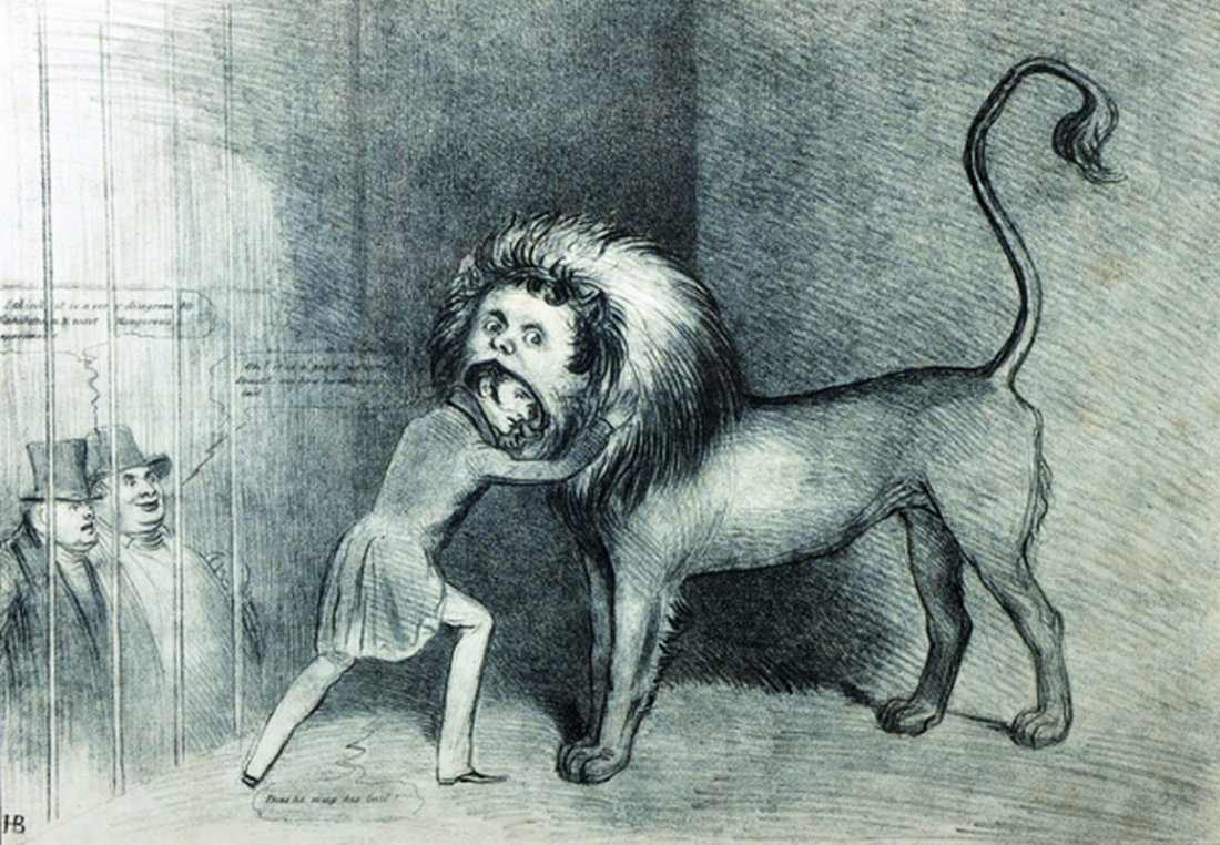 20th Century English School. 'In The Lion's Mouth',