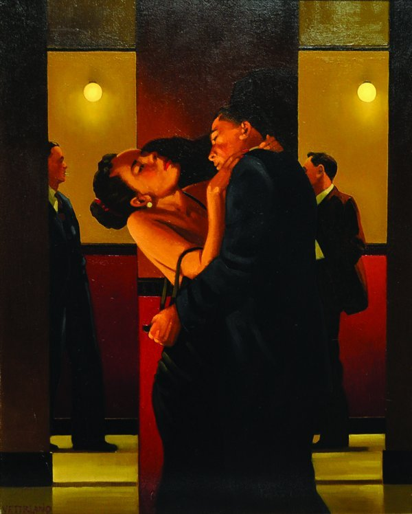 Jack Vettriano (1954-    ) British. 'The Night