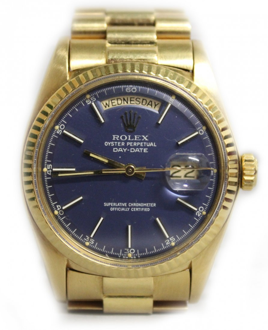 A GENTLEMAN'S 18CT YELLOW GOLD ROLEX OYSTER PERPETUAL