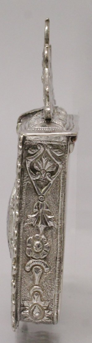 A 19TH CENTURY INDO-PERSIAN SILVER METAL BOX, with - 3