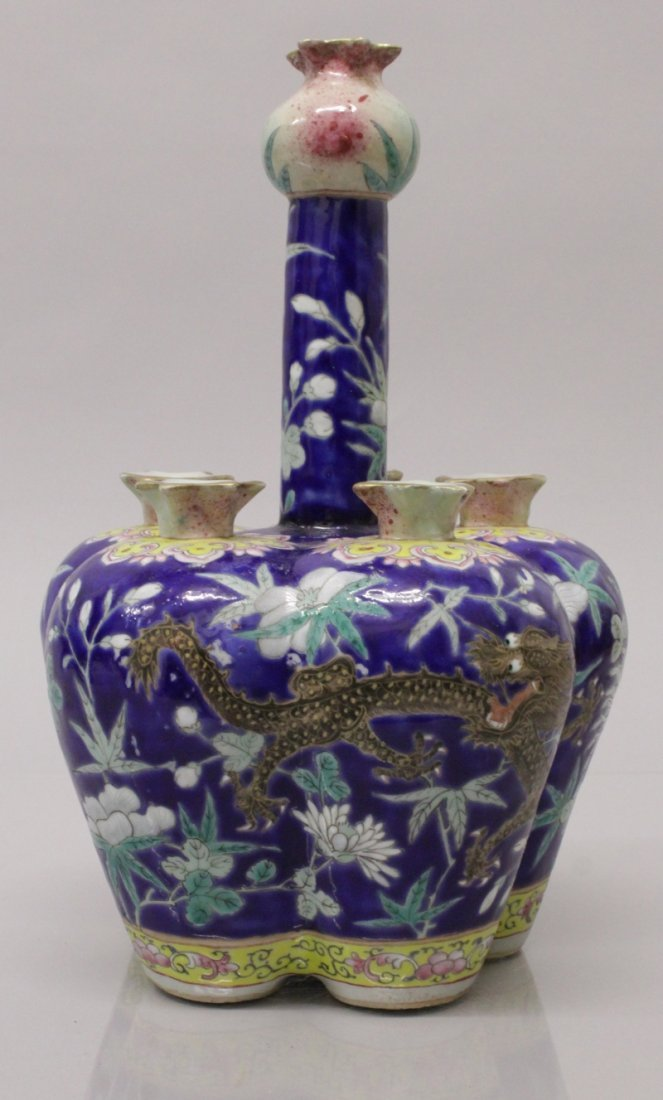 A GOOD QUALITY 19TH CENTURY CHINESE FAMILLE ROSE BLUE - 3