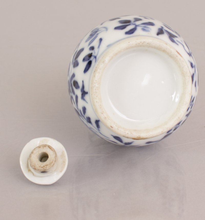 A 19TH CENTURY CHINESE BLUE & WHITE DOUBLE GOURD - 5