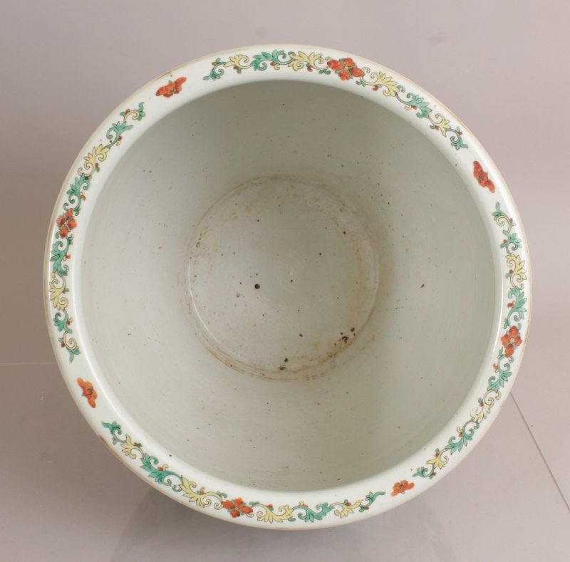 A GOOD LARGE 19TH CENTURY CHINESE FAMILLE ROSE-VERTE - 5