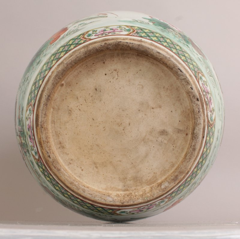 A GOOD LARGE 19TH CENTURY CHINESE FAMILLE ROSE-VERTE - 6