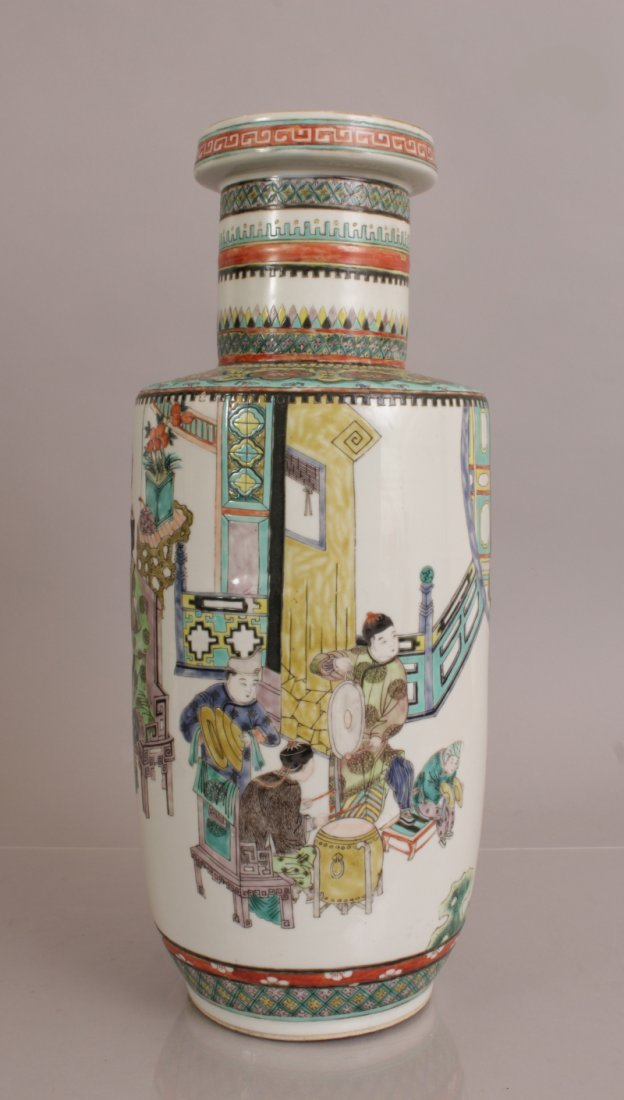 A 19TH/20TH CENTURY CHINESE FAMILLE VERTE PORCELAIN - 2