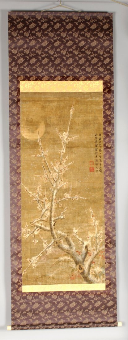 A GOOD QUALITY CHINESE HANGING SCROLL PAINTING, with - 2