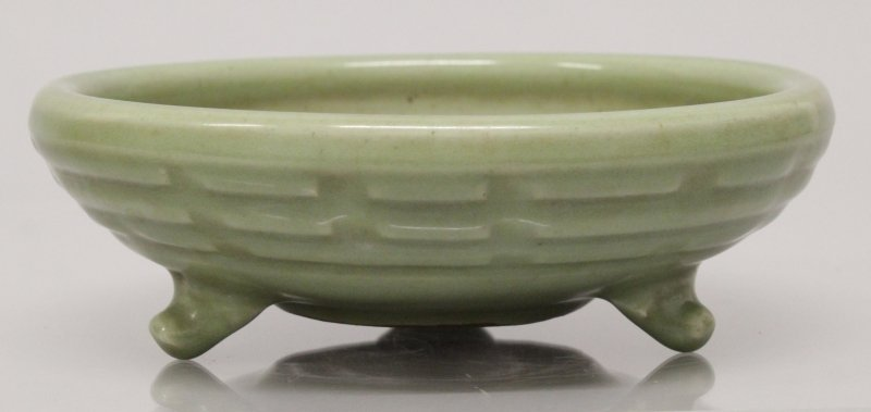 A CHINESE LONGQUAN STYLE CELADON TRIPOD CENSER, the