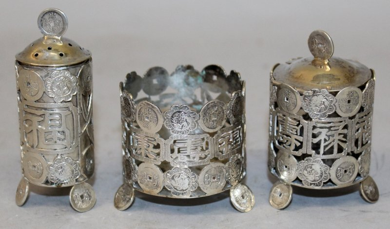 A GROUP OF THREE EARLY 20TH CENTURY CHINESE SILVER - 2