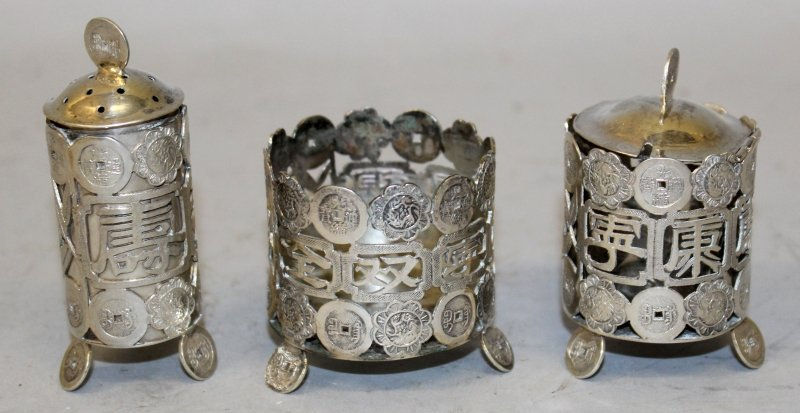 A GROUP OF THREE EARLY 20TH CENTURY CHINESE SILVER - 3