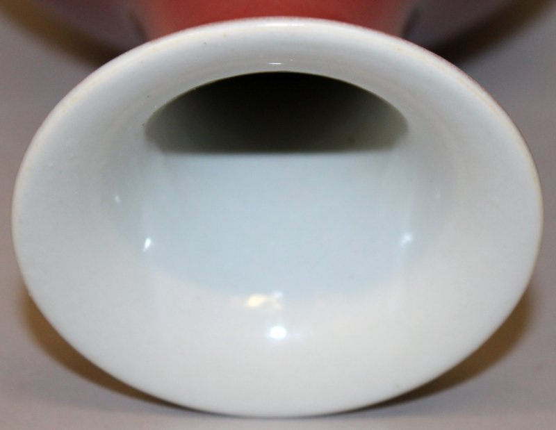 A CHINESE SANG-DE-BOEUF YUHUCHUNPING PORCELAIN VASE, - 5