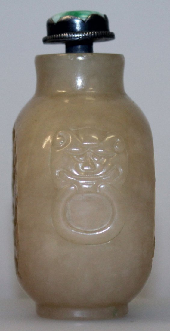 A 19TH/20TH CENTURY CHINESE JADE SNUFF BOTTLE & - 4