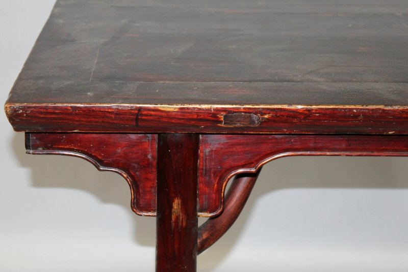 A 19TH/20TH CENTURY CHINESE HARDWOOD RECTANGULAR ALTER - 2