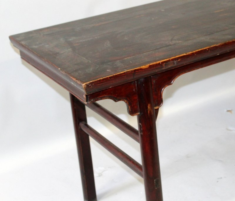 A 19TH/20TH CENTURY CHINESE HARDWOOD RECTANGULAR ALTER - 4